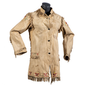 Santee Sioux Quilled Hide Coat