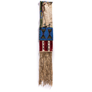 Sioux Beaded Hided Tobacco Bag