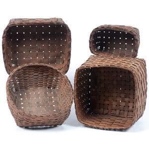 Northeastern Split Ash Baskets, with Potato Stamped Decorations