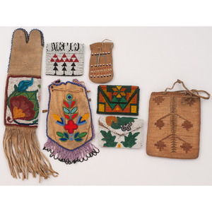 Collection of Plains and Great Lakes Beaded Pouches