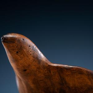 Ho Chunk (Winnebago) Bird Effigy Burl Wood Bowl