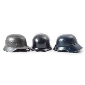 Lot of 3 WWII German Helmets