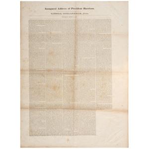 [HARRISON, William Henry (1773-1841)]. Inaugural Address of President Harrison. Washington, DC: National Intelligencer...Extra, 4 March 1841.