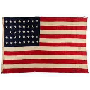 [FLAGS & PATRIOTIC TEXTILES]. 38-star flag. 1870.