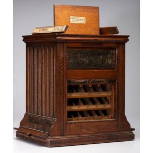 A Clark's O.N.T. Rotary Spool Cabinet