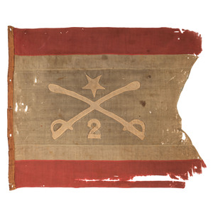 [CIVIL WAR] -- [SHERIDAN, Philip Henry (1831-1888)]. Personal headquarters flag of Philip Henry Sheridan used when he led the 2nd Michigan Cavalry. Spring - Summer 1862.