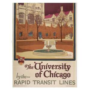 [FINE ART]. A group of 2 posters featuring Illinois Institutions, incl. University of Chicago poster by Norman ERICKSON.