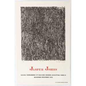 [FINE ART] -- [JOHNS, Jasper (American, b. 1930)]. A group of 3 exhibition posters, comprising:
