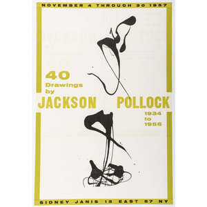 [FINE ART] -- [POLLOCK, Jackson. (American, 1912–1956)]. A group of 2 exhibition posters, comprising: