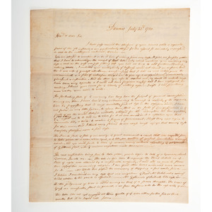 [REVOLUTIONARY WAR - CONTINENTAL CONGRESS]. [HOLTEN, Dr. Samuel (1738-1816)]. An archive of letters related to Danvers, Massachusetts, physician and statesman Dr. Samuel Holten, comprising: