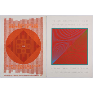 [FINE ART]. A group of 2 exhibition posters featuring artwork of George ORTMAN and Richard ANUSZKIEWICZ.