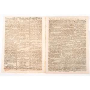 [REVOLUTIONARY WAR - WASHINGTON, George (1732-1799)].  The London Chronicle. Vol. XXXVIII, No. 29.  London, 29 August 1775 - 31 August 1775.
