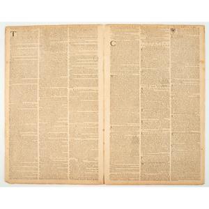 [PRE-REVOLUTIONARY WAR - NONIMPORTATION AGREEMENTS]. The Pennsylvania Gazette. No. 2146. Philadelphia: David Hall and William Sellers, 8 February 1770.