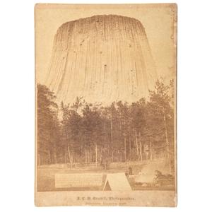 [WESTERN AMERICANA]. GRABILL, J.C.H. (1849-1903), photographer. Devil's Tower. Sturgis, Dakota Territory, 1887.