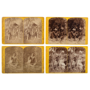 [WESTERN AMERICANA]. HILLERS, John Karl (1843-1925) & BEAMAN, Elias Ocott (active 1870s), photographers. A set of 55 Powell Survey stereoviews from the series Indians of the Colorado Valley. Various publishers, ca 1874.
