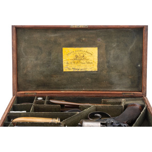 Cased Early Production Model 1854 Beaumont Adams Percussion Revolver