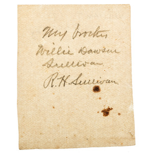 [CIVIL WAR]. Sixth plate ruby ambrotype of 2nd Lieutenant Willam Dawson Sullivan, Co. I, 147th New York Infantry, POW Gettysburg. N.p.: n.p., [ca 1864].
