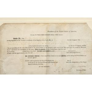 MADISON, James (1751-1836). Document signed (