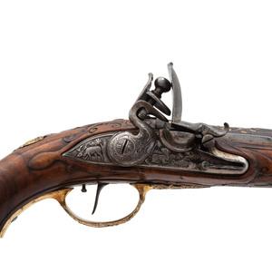 Flintlock Pistol by Johann Jakob Kuchenreuter