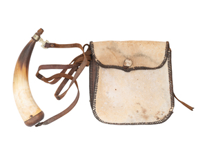 Hunting Pouch and Powder Horn by Alonzo Jackson