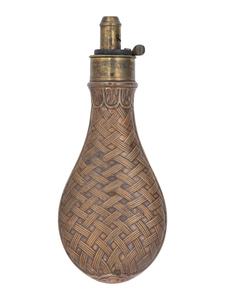 G.&J.W. Hawksley Brass Powder Flask