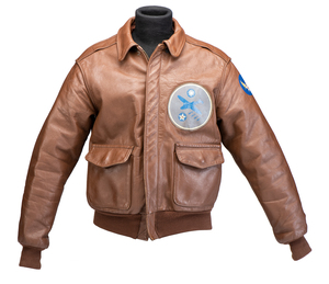 """Painted Leather Jacket Used in Film, """"Letters from Iwo Jima"""""""