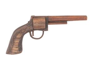 Carved Wood Revolver by Rudy Bahr