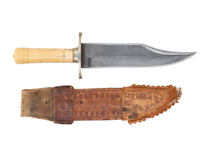 Early Bowie Knife and Scabbard
