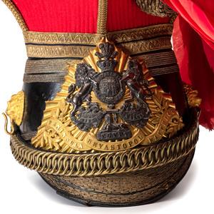British Victorian 12th Prince of Wales Lancer Officer Helmet
