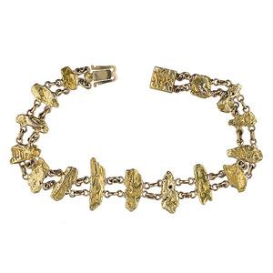 Gold Nugget Bracelet,