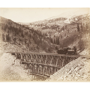 Three William Henry Jackson Photographs of Trains,