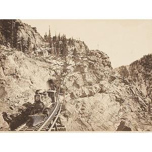 William Henry Jackson Photograph of a Railroad Construction Train,