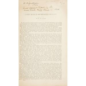Inscribed William Henry Jackson Pamphlet on Southwestern Ruins,