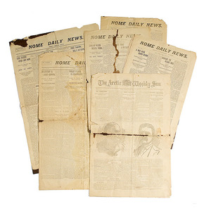 Rare Group of Nome Daily News, 1900 Newspapers,