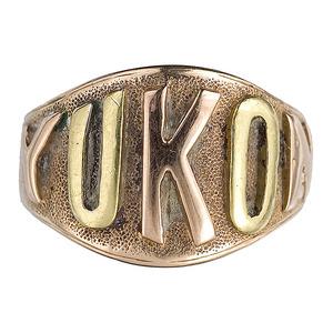 Wonderful Yukon Marked Three-Color gold Men's Ring,
