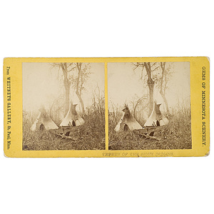 Joel E. Whitney Stereoview of Teepees of the Sioux Indians,