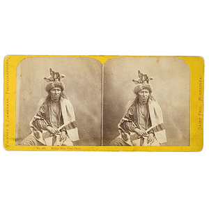 Whitney and Zimmerman Stereoview of Bitter Man, Cree Chief,