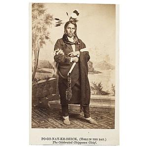 Fine Joel E. Whitney CDV of Po-go-nay-ke-shick (Hole in the Day), Chippewa,