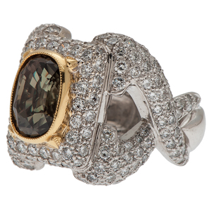Sarosi Diamond and Andalusite Ring in 18 Karat Gold