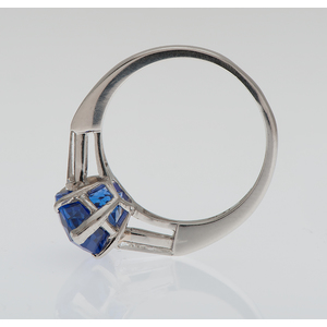 Tanzanite and Diamond Ring in Platinum
