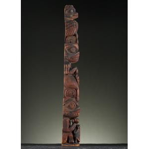 Haida Model Wood Totem Pole