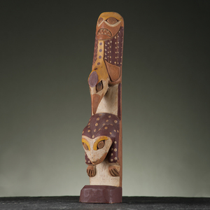 Tlingit Model Wood Totem Pole
