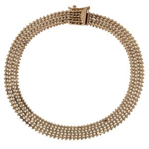 Foxtail Bracelet in 14 Karat Yellow Gold