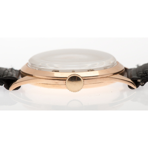 Longines 18 Karat Rose Gold Wrist Watch Ca 1949
