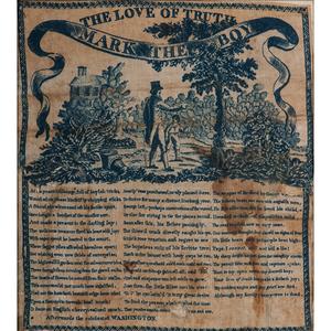George Washington Memorial Printed Handkerchief