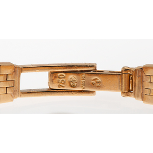 Omega Diamond Watch in 18 Karat Yellow Gold