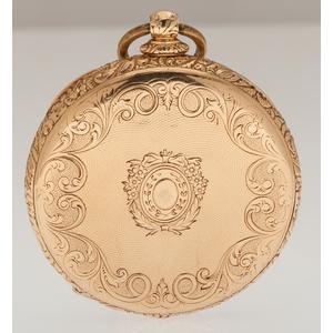 Victorian Open Face Pocket Watch in 18 Karat Yellow Gold