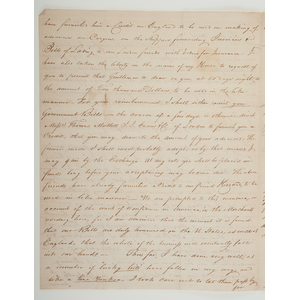 War of 1812-Period Letter from Cadiz, Spain to Henry Ward of Wall Street, NY, Referencing Embargoes