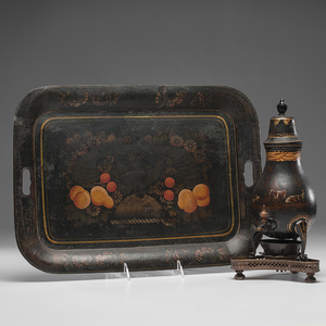 Toleware Hot Water Urn and Tray