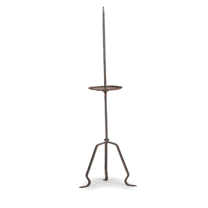 Wrought Iron Floor Light Stand with Pad Feet